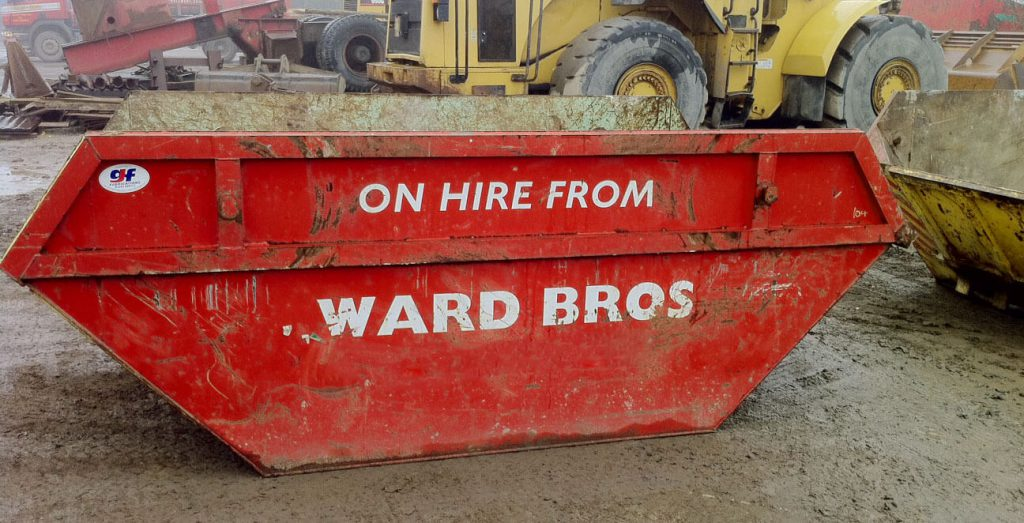 What is a roll-on roll-off (RORO) skip?
