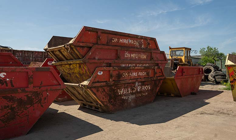 Image of Skips stacked